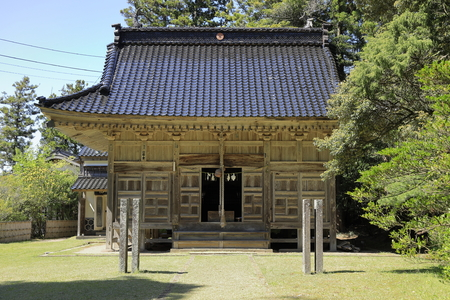 prayer hall of Daizen shrine in Sado, Niigata, Japan Banco de Imagens - 124913454