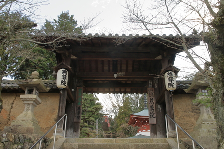 temple gate and pagoda of Jison-in temple in Wakayama, Japan