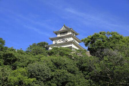 castle keep of Marugame castle in Kagawa, Japan