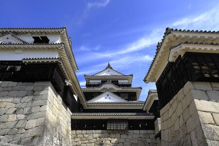 castle keep of Matsuyama castle in Ehime, Japan