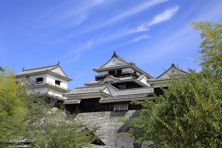 castle keep of Matsuyama castle in Ehime, Japan