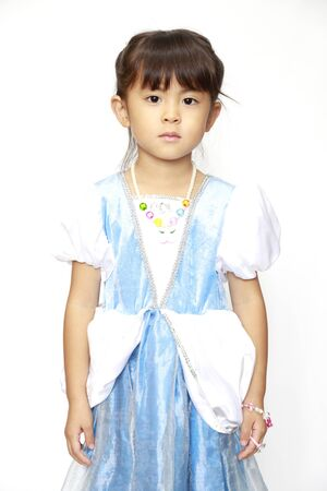 Japanese girl in a dress (4 years old)