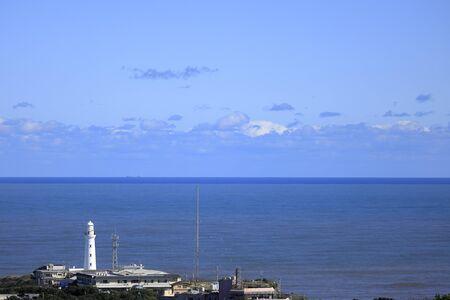 Inubosaki lighthouse in Choshi, Chiba, Japan, view from Mt. Atago 報道画像