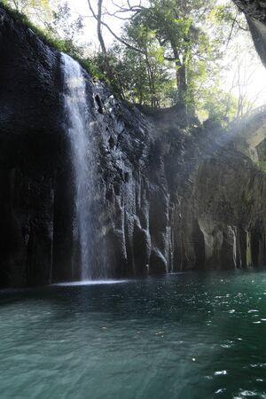 Takachiho gorge and Manai falls in Miyazaki, Japan