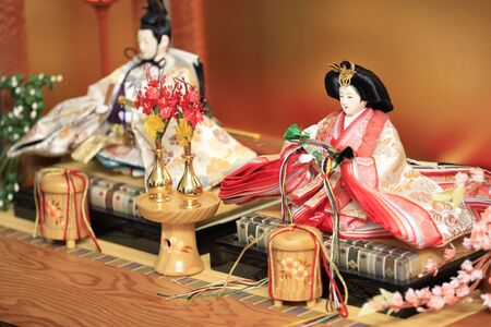 Hina doll (Japanese traditional doll) on Hina festival