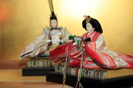 Hina doll (Japanese traditional doll) on Hina festival Banque d'images