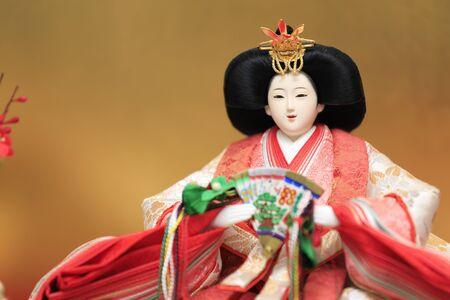Hina doll (female doll) on Hina festival