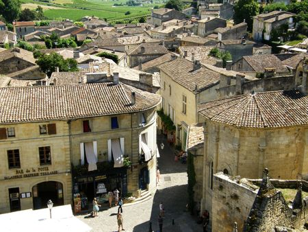 a picture of the village of St-Émilion, France Stock Photo - 4240174