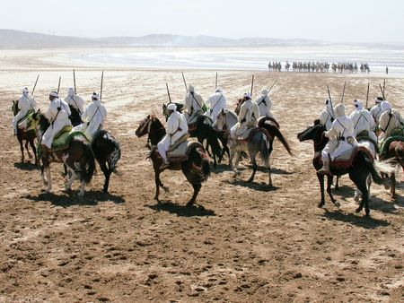 morocco: Fantasia on the beach of Essaouira