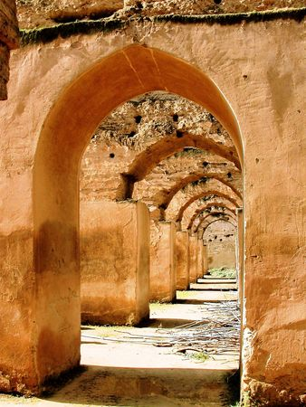 symetry: perfect architectural arches Stock Photo