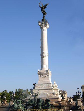 a famous monument in France. Fountain in a park 版權商用圖片