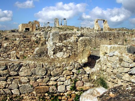 The roman archeological site of Volubilis in Morocco, Africa