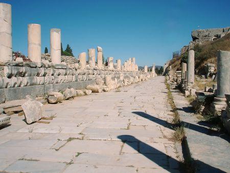 Turkey, roman ruins in Kusadasi, Europe 스톡 콘텐츠
