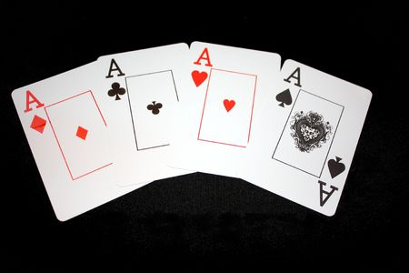 aces poker playing cards: four of a kind