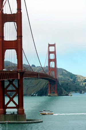 Golden Bridge landmark in San Francisco, California Stock Photo