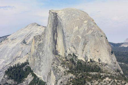 Half Dome panoramic view from Glacier Point in Yosemite Nationa Park, California Stock Photo
