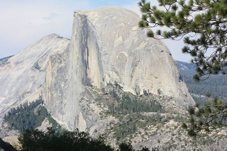 Half Dome panoramic view from Glacier Point in Yosemite Nationa Park, California Imagens