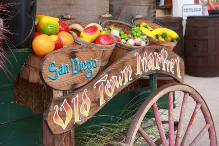 old town market welcome  sign in San Diego