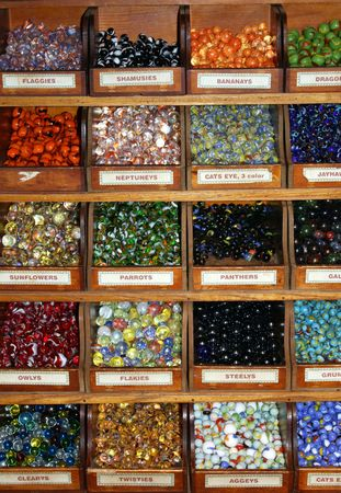 old racks of different kinds of beautiful marbles Stock Photo - 5467330