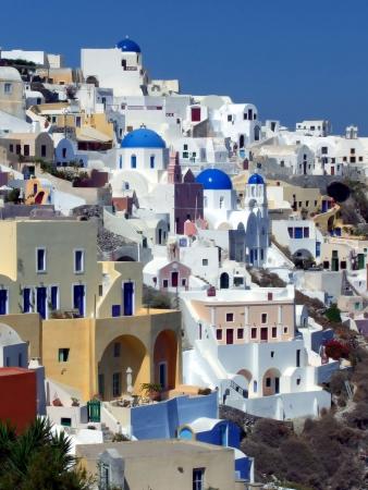 scenic view of Oya on Santorini archipelago, Greece Stock Photo - 5601737