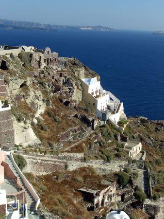 old town of Oya on Santorini archipelago Stock Photo - 5601846