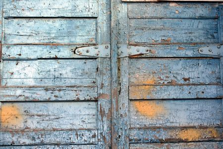 old painted wooden doors as background