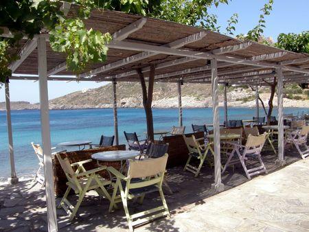 restaurant terrace in exotic tropical location Imagens - 6065372