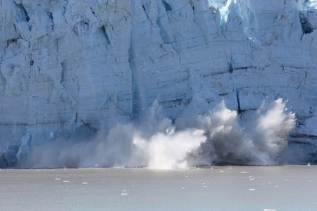 calving: calving glacier in Glacier Bay, national park, Alaska Stock Photo