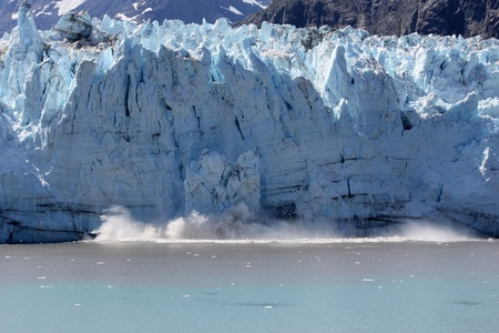 calving glacier in Glacier Bay, national park, Alaska Stock Photo - 10836727