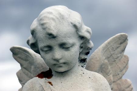 angel and heaven Stock Photo