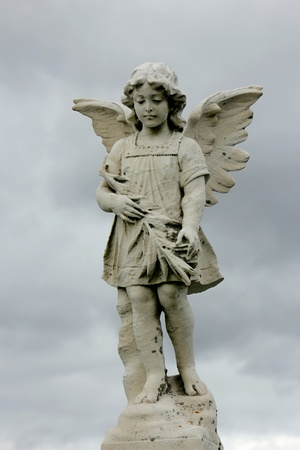 angel tombstone: death and protection photo