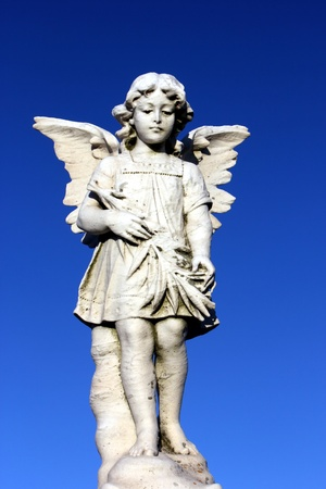 guardian angel statue watching over loved ones