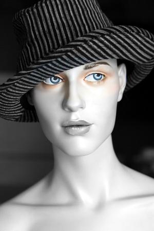 Fedora hat on mannequins head photo