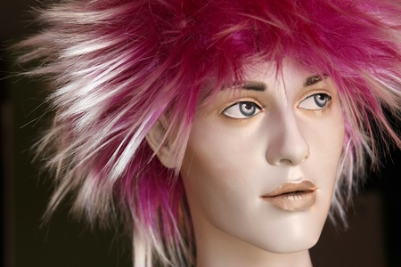 female mannequin with funky pink wig Stock Photo - 11807700
