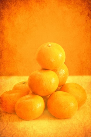 clementine with vintage look photo