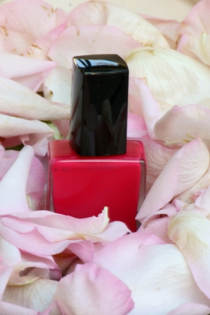 polish: pink nail polish bottle