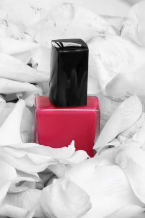 flacon vernis � ongle: rose vernis � ongles bouteilles Banque d'images