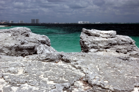 caribbeans: beach with a view on Cancun