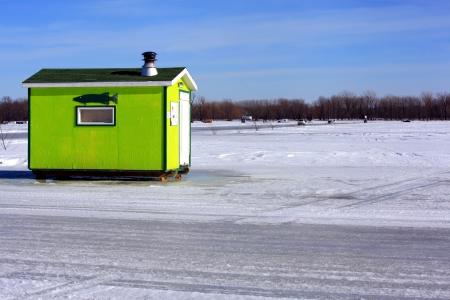 fishing cabin: Ice fishing cabin