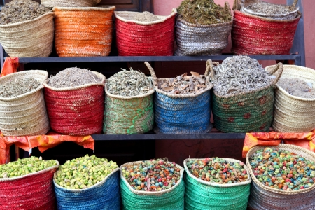 herbs and flowers in Marrakesh souk