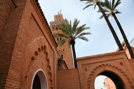 Famous Koutoubia mosque in Marrakesh