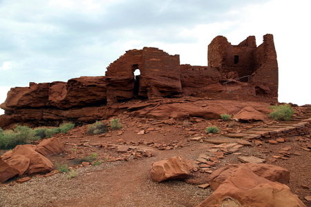 indian Pueblo in Wupatki Park Stock Photo