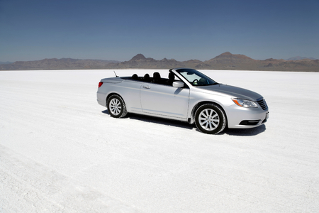 Luxury Car at  Bonneville Salt Flats