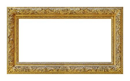 Panoramic golden frame for paintings Banque d'images