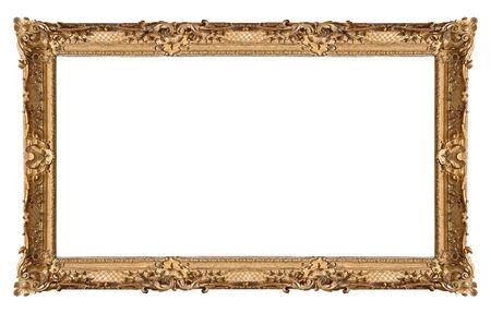 Marco dorado panorámico para cuadros