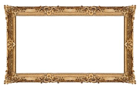 Panoramic golden frame for paintings