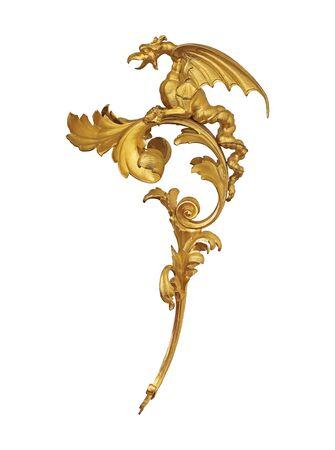 Golden decorative element