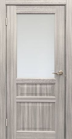 Entrance door (Interior wooden door) isolated on white background