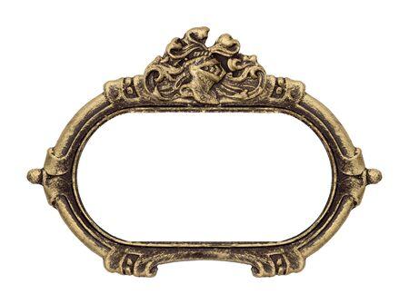 Gouden gotische lijst voor schilderijen, spiegels of foto's. Ontwerpelement met uitknippad