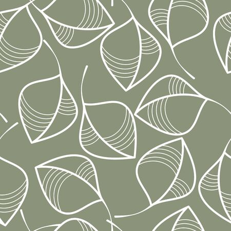 Seamless pattern with a motif of leaves